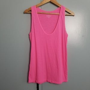 J.Crew hot pink tank top size S   -N2